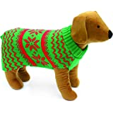 Doggy Things Snowflake Knitted Jumper, Medium