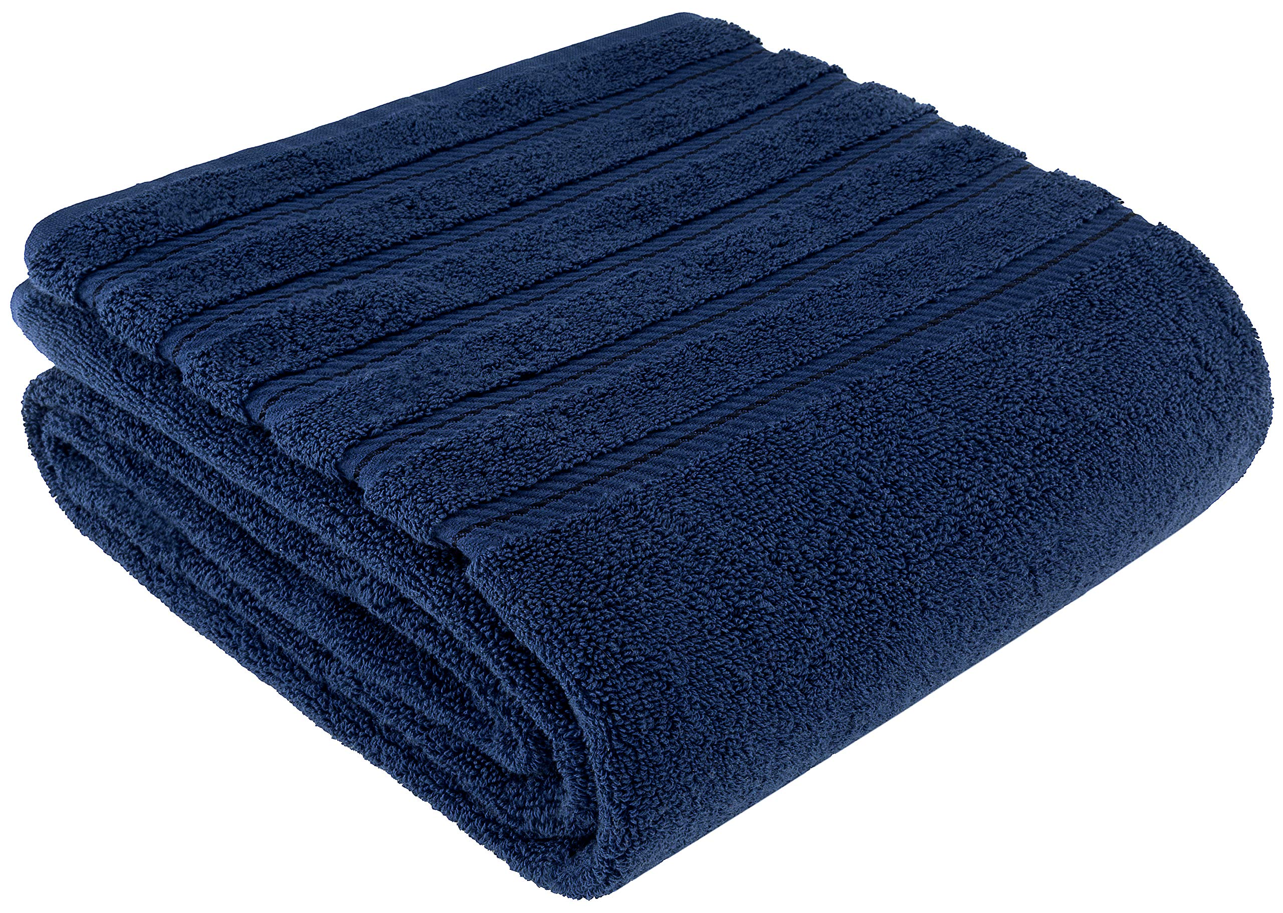 Premium, Luxury Hotel & Spa Quality, 35x70 Extra Large Jumbo Size Bath Towel, Bath Sheet Cotton for Maximum Softness and Absorbency by American Soft Linen, [Worth $34.95] (Navy Blue)
