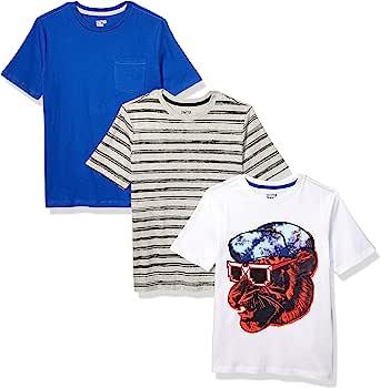 Spotted Zebra 3-Pack Short-Sleeve T-Shirts Niños, Pack de 3