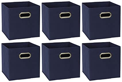Household Essentials 81 1 Foldable Fabric Storage Bins | Set Of 6 Cubby  Cubes With