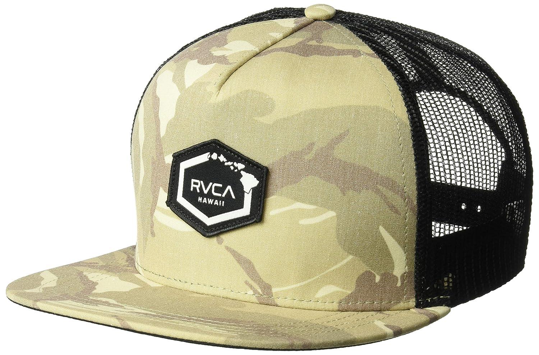 big sale 0495b b4dc1 ... get canada amazon rvca mens hawaii hex patch trucker hat black one size  clothing ce1e9 a543f