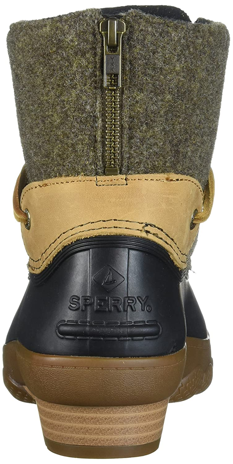 Sperry Top-Sider Women's Saltwater Wedge Tide Wool Rain Boot B01N1UFC2G 5.5 B(M) US|Brown/Canteen