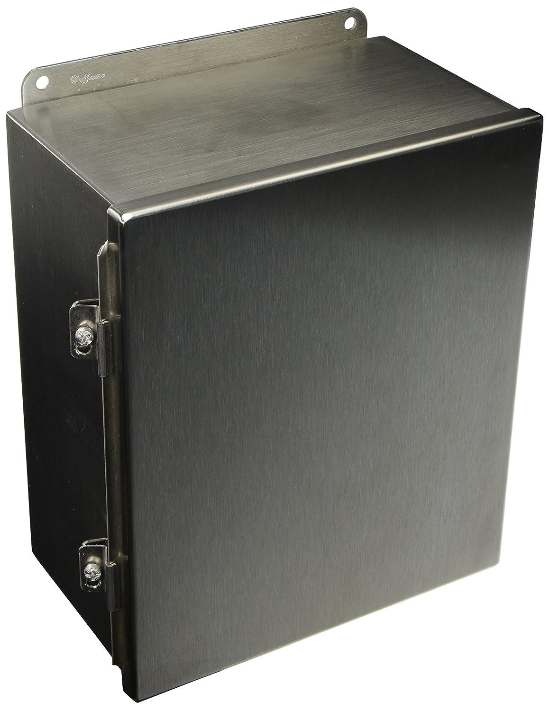12 x 10 x 6 12106CHNFSS Stainless Steel Enclosure 12/'/' x 10/'/' x 6/'/'