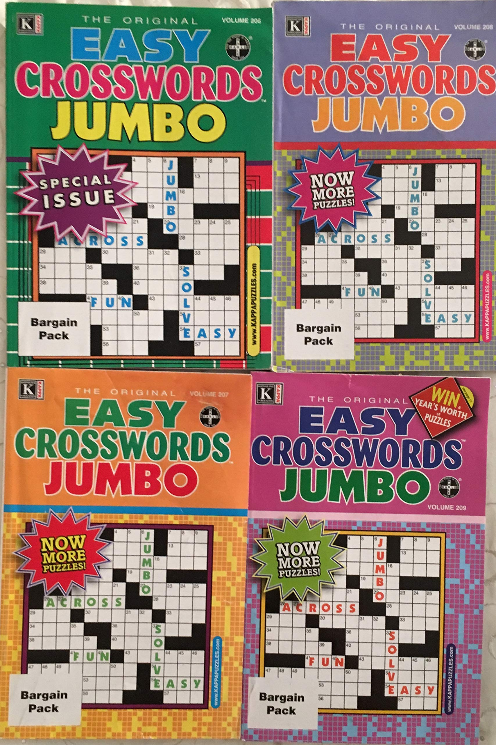 ff3ddc7c0b Lot of 4 Kappa The Original Easy Crosswords Jumbo Special Issue ...