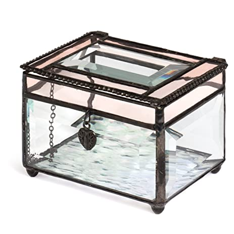 Amazoncom J Devlin Box 583 Beveled Glass Jewelry Box Translucent