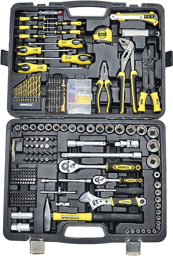 """Bohell SH303 - Maletín con juego de llaves de vaso de ¼ y ½"""" y otras herramientas, 303 piezas: Amazon.es: Bricolaje y herramientas"""