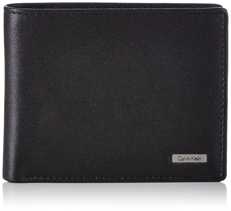 Calvin Klein Gsell Portefeuille CK500755 Noir Cuir de Vachette Calvin Klein Rail 5Cc Porte-Monnaie - Noir (001) Taille Unique K50K500755