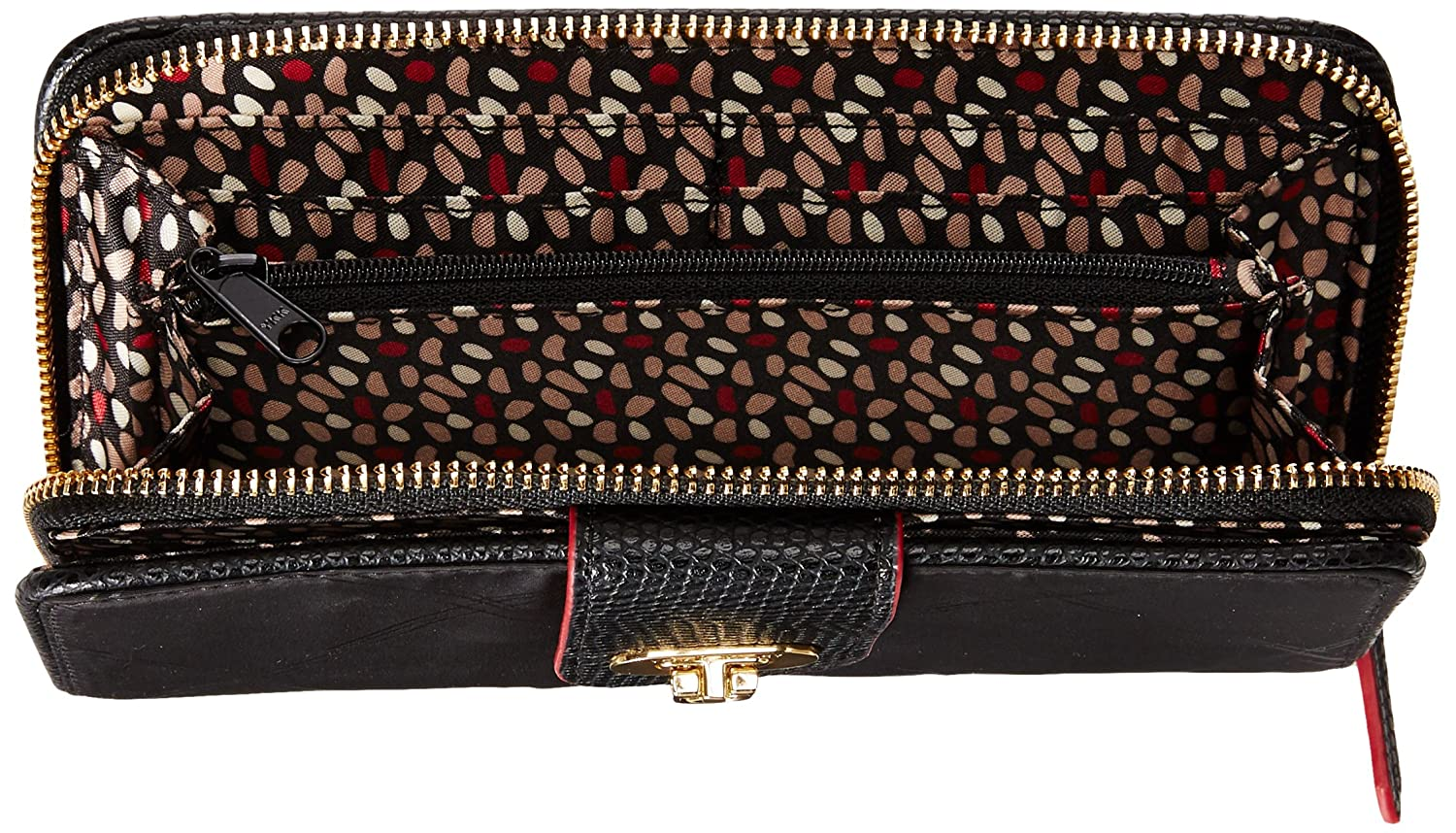 Amazon.com: Vera Bradley Preppy Poly cartera, negro, talla ...