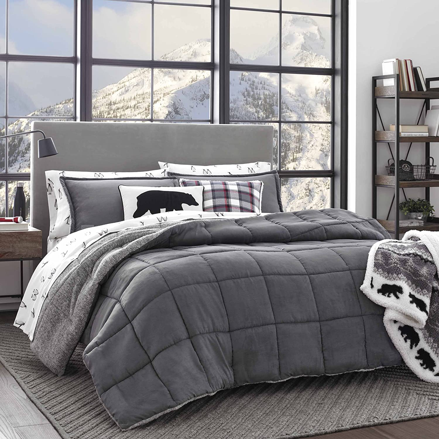 Eddie Bauer Sherwood Comforter Set, Full/Queen, Grey