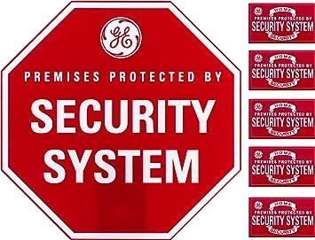 Amazon.com: Letrero y pegatinas de aviso sobre alarma de ...