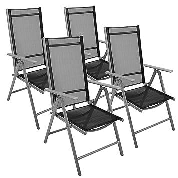 Nexos 4 Er Set Stuhl, Klappstuhl, Gartenstuhl, Hochlehner Für Terrasse,  Balkon