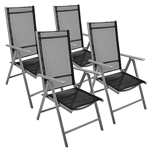 Gartenstühle alu schwarz  Amazon.de: Nexos 4-er Set Stuhl, Klappstuhl, Gartenstuhl ...