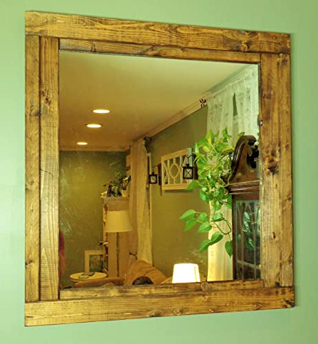 Renewed Décor Farmhouse Mirror in 20 stain colors - Large Wall