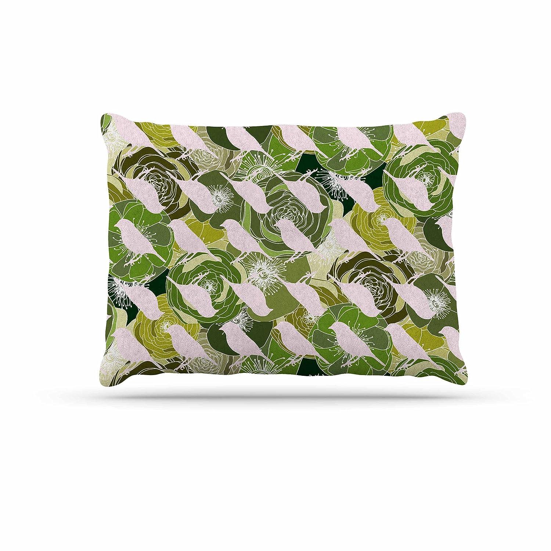 Kess InHouse Anchobee Aisha  Green Pattern Fleece Dog Bed, 30 by 40