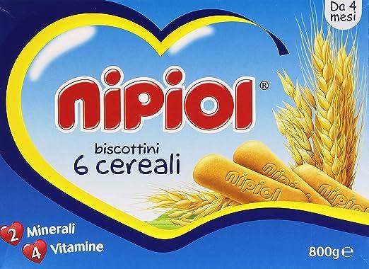 4 opinioni per Nipiol- Biscottini 6 Cereali, 2 Minerali, 4 Vitamine- 800 G