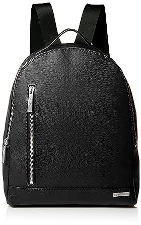 ddaf52aa303a88 Amazon.com: Calvin Klein Men's Saffiano Backpack, Black: Clothing