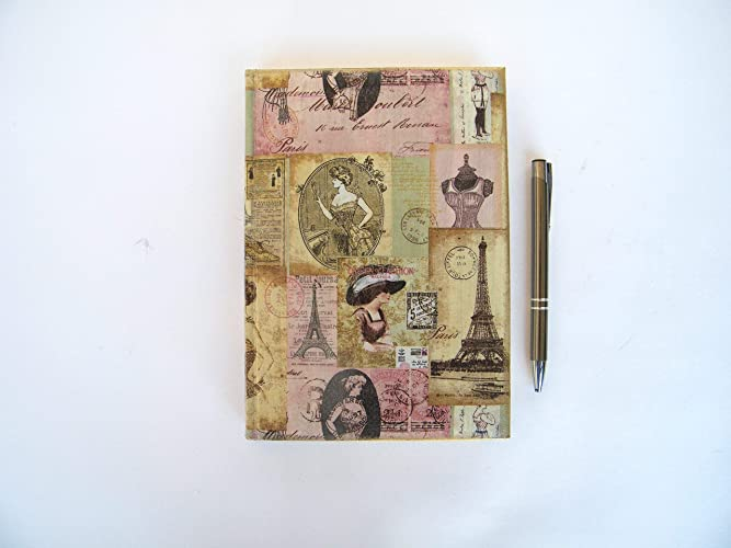 Kristan Art - Vintage Paris Agenda 2019 Planificador A5 Vista por Dia Regalo para comañero Castellano Tapa Dura Queen of fashion Boutique Moda