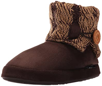 8cc0dc367b9c MUK LUKS Women s Patti 2 Tone Nordic-Java Slipper Brown Medium (7-7.5