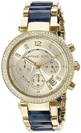 d229807e58041 Amazon.com  Michael Kors Women s Parker Blue Watch MK6238  Michael ...