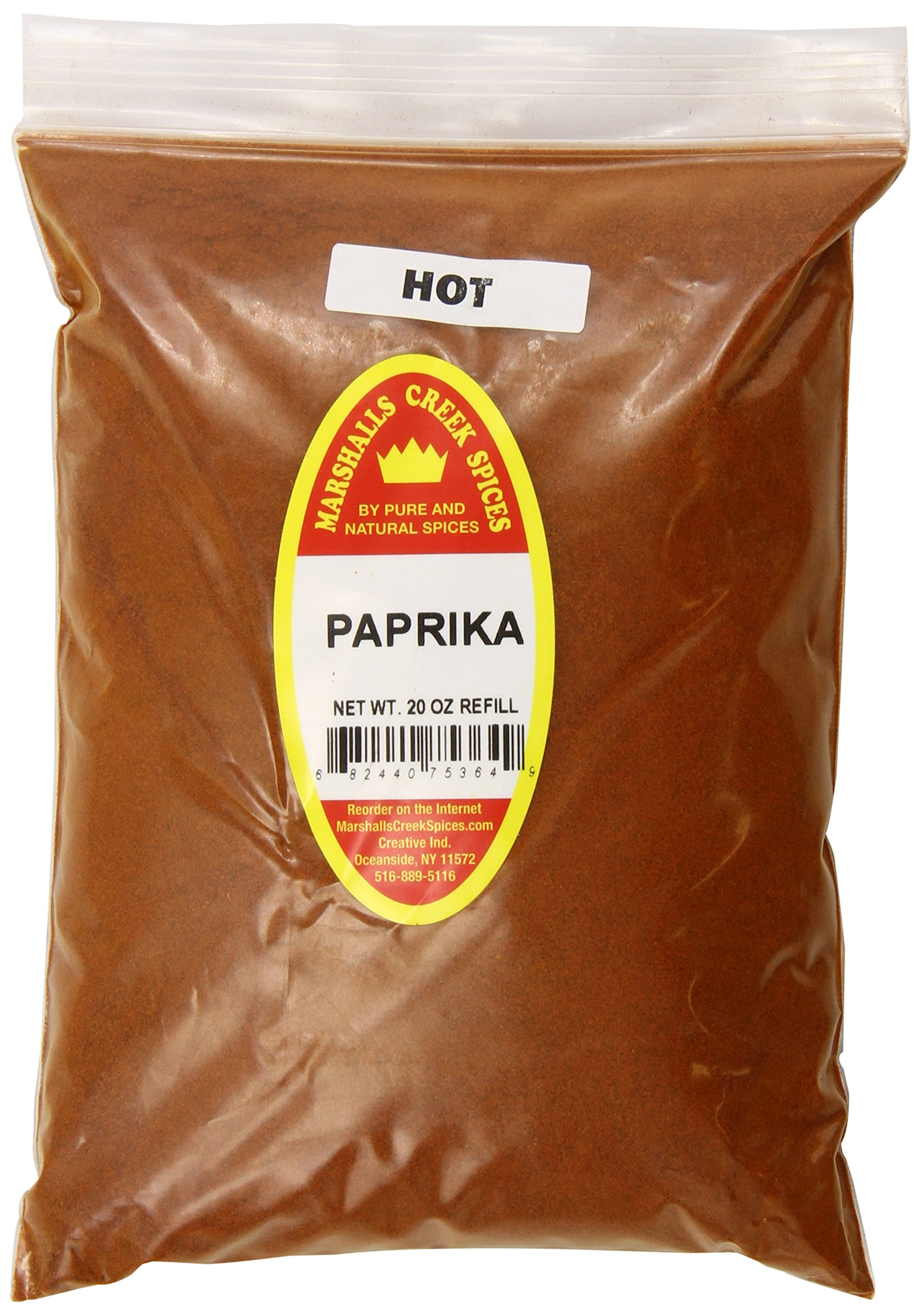 Marshalls Creek Spices X-Large Refill Paprika, Hot, 20 Ounce by Marshall's Creek Spices (Image #1)