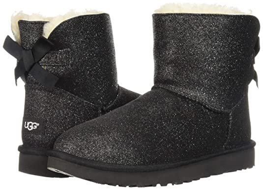 0f2a0ec2205 UGG Mini Bailey Bow Sparkle 1100053 W/SLVR: Amazon.co.uk: Shoes & Bags
