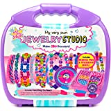 Just My Style My Very Own Jewelry Studio by Horizon Group USA, DIY Bracelet Making, Includes Over 1700 Beads & 11 Yd of Cording, Multicolored