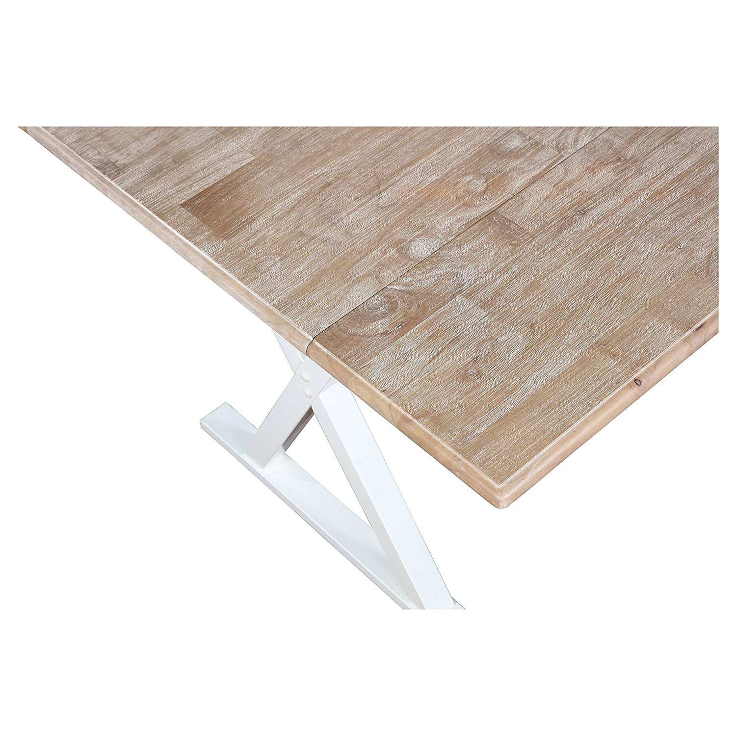 "Amazon Drop Leaf Rustic White 40"" Dining Table Tables"
