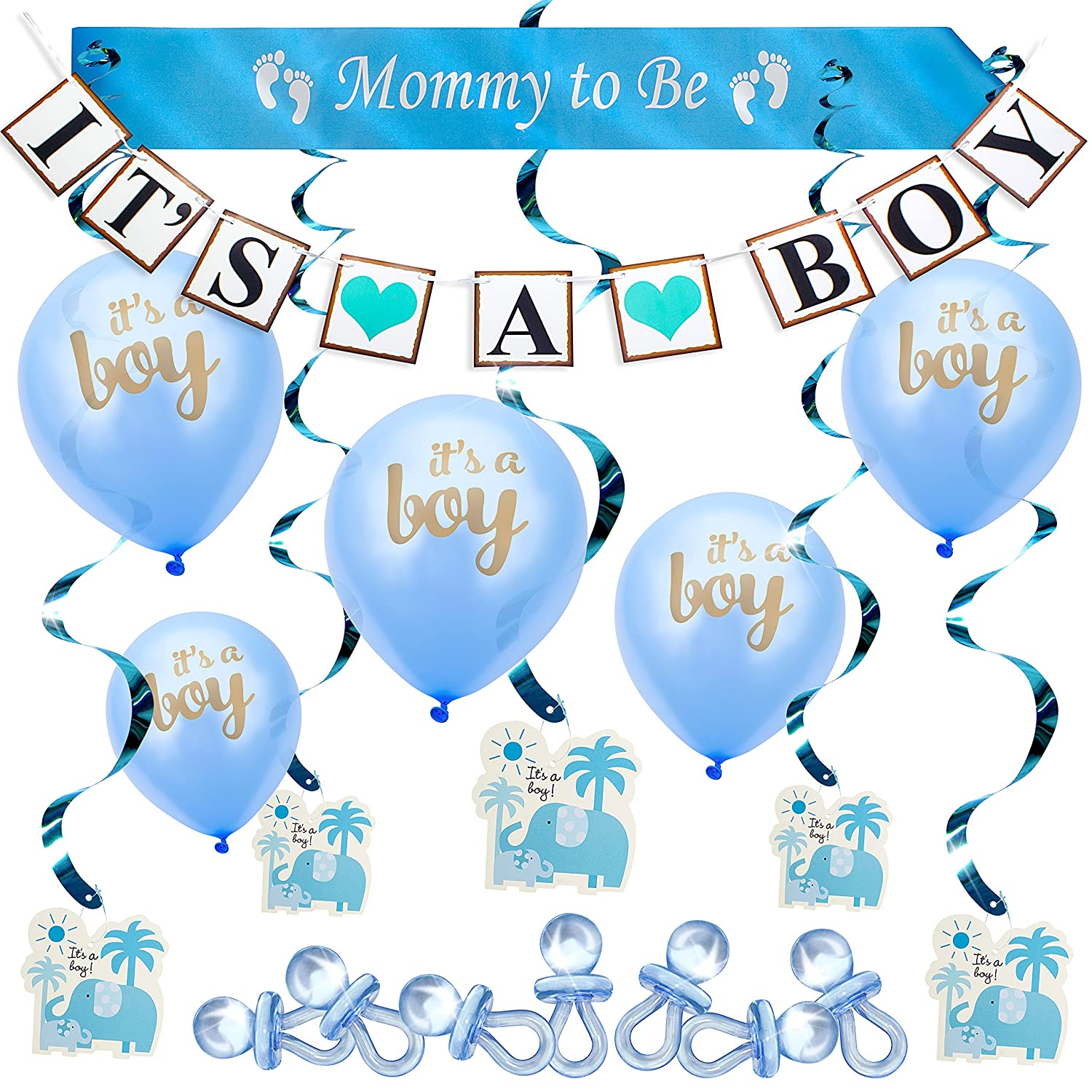 BEST PRICE BABY SHOWER Party Decoration Set It\'s a BOY 37 pcs ...