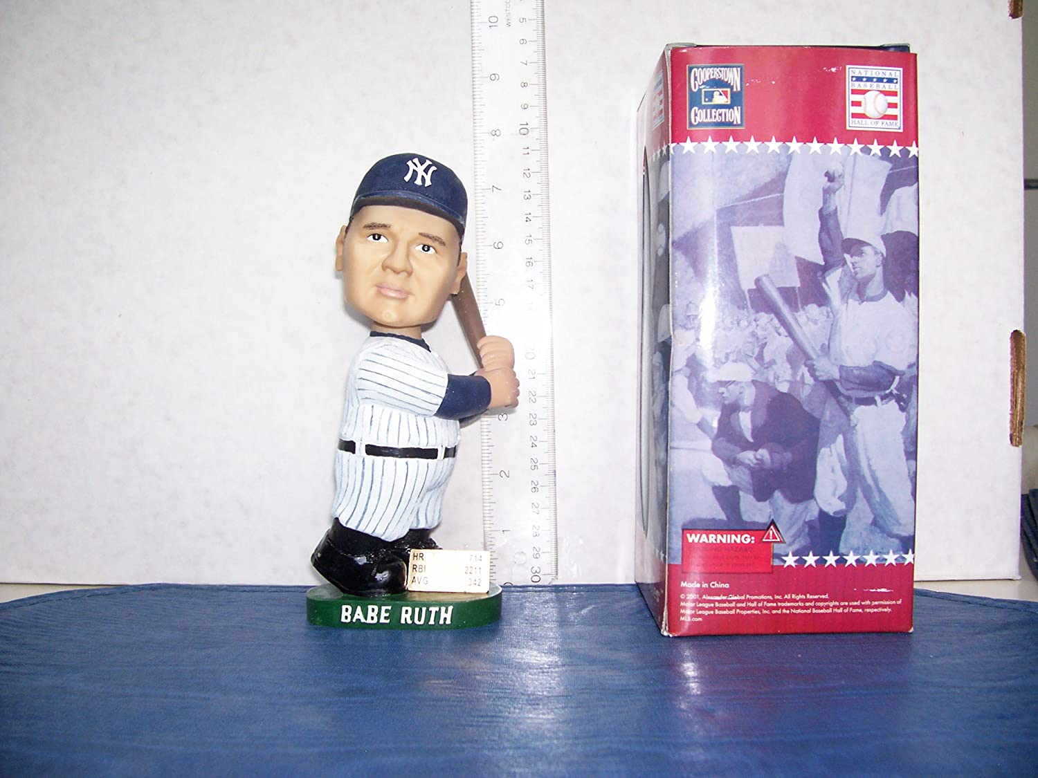 2001 AGP COOPERSTOWN COLLECTION BABE RUTH BOBBLEHEAD NEW YORK YANKEES MINT RARE!