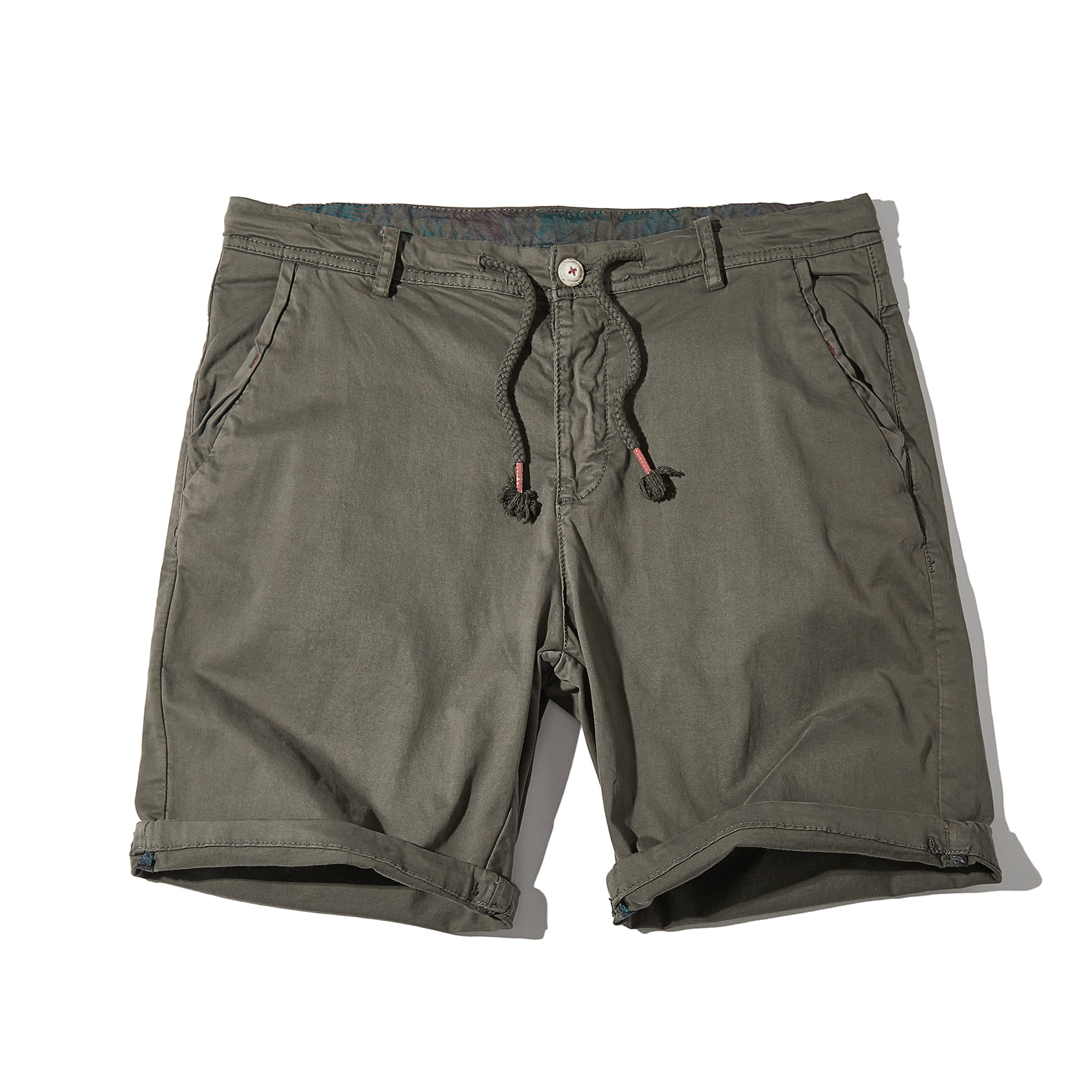 Granfee Men's Summer Casual Cotton Shorts with Pockets(DK829Grey36)