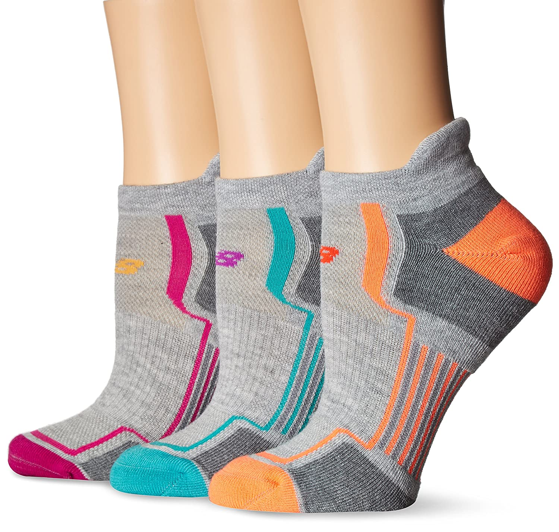 New Balance Women's Performance Low Cut Tab Socks (3 Pack) Black/Pink/Orange/Teal Size 6-10 New Balance Socks N686-3-WEB