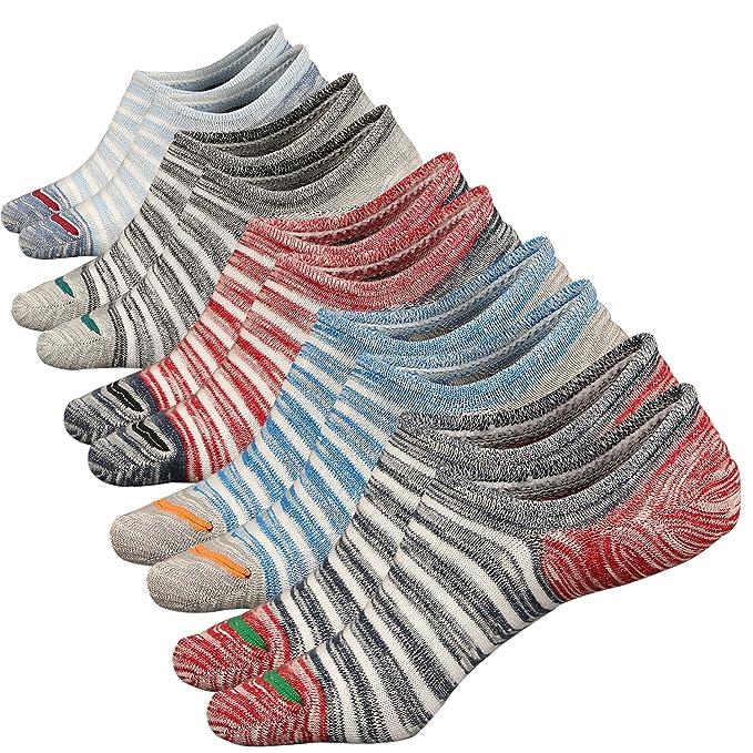 Calcetines Cortos Sneaker de Deporte Transpirable Calcetines Invisibles Hombre Algodón Antideslizante Calcetínes del Tobillo (38-44, Color 1 (5 Pares)): ...