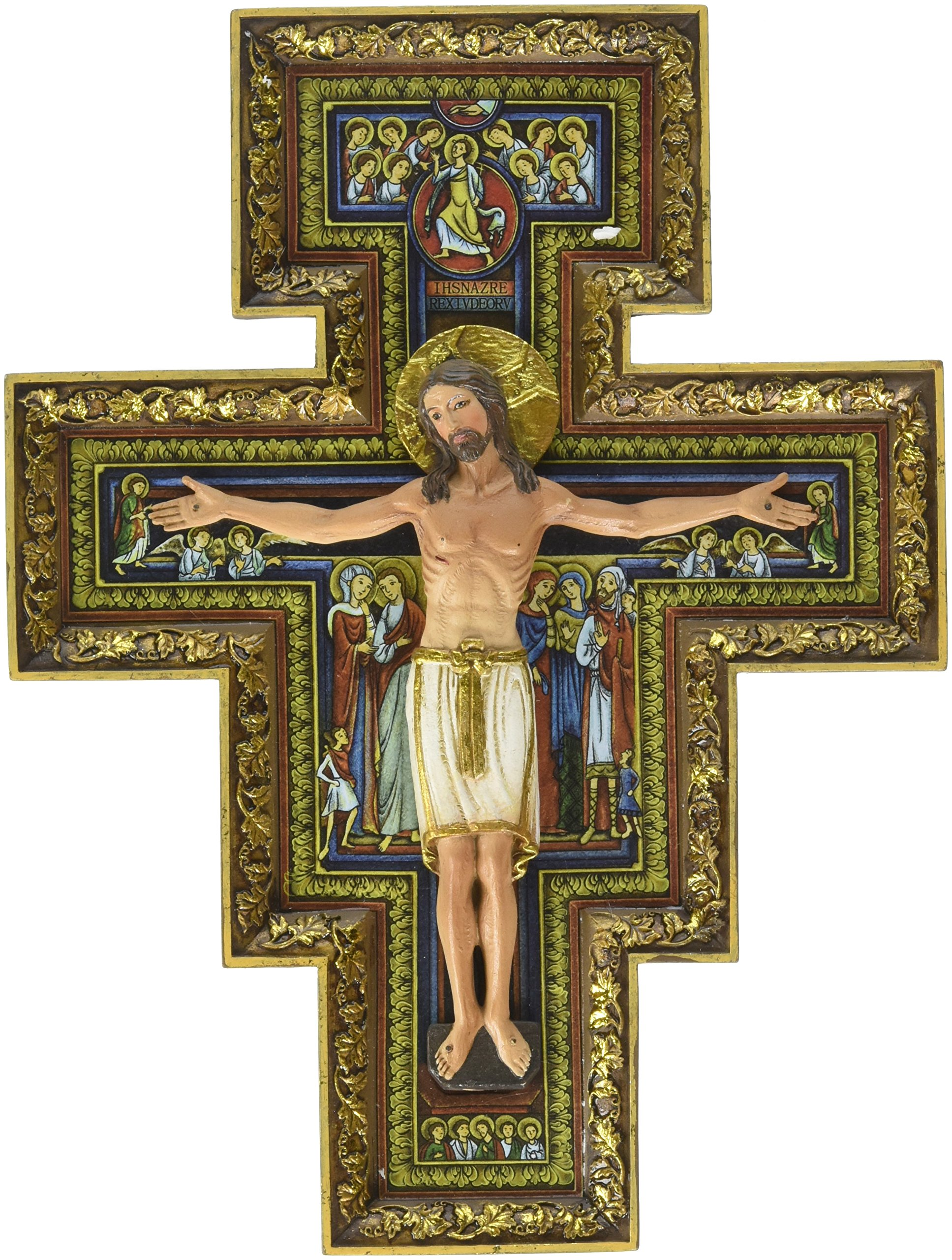 San Damiano Religious Wall Crucifix, 10 in by Avalon Gallery