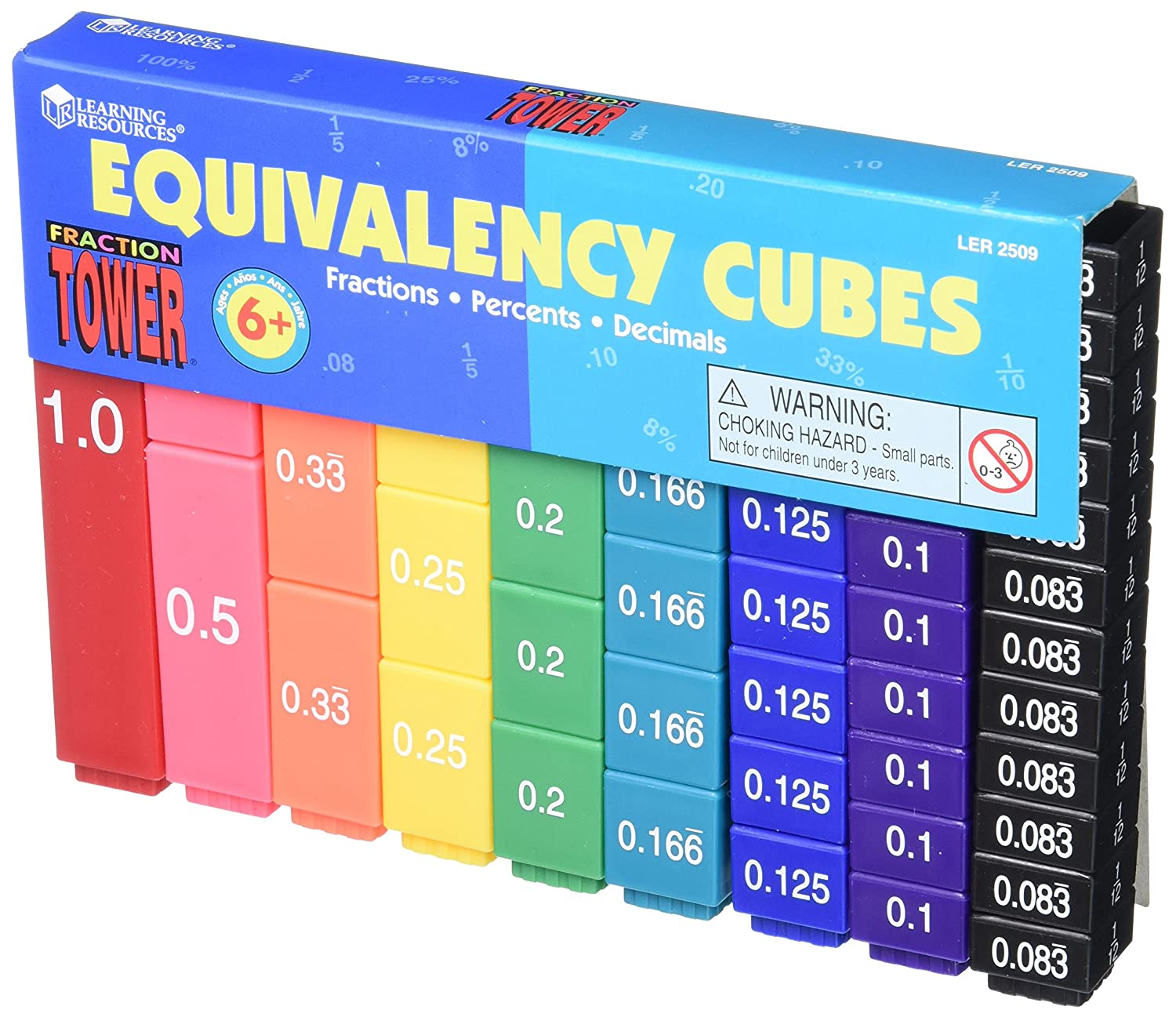 equivalent fractions cubes