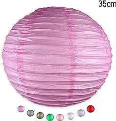 EinsSein 1 x LAMPION Large pink DM 35cm Hochzeit Wedding Laterne Papierlampion
