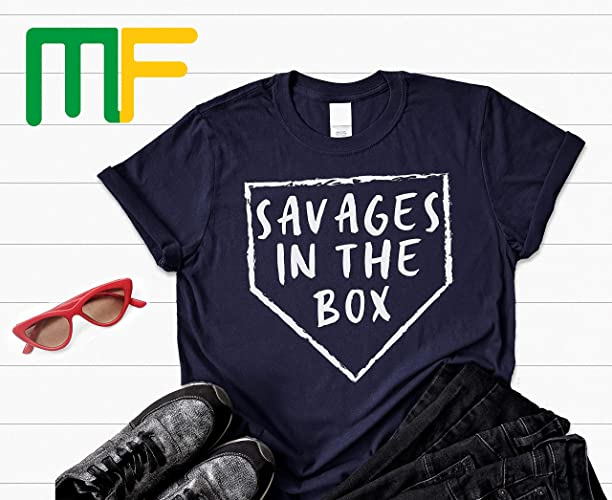 faa3cde30 Amazon.com: savages in the box shirt, New York Yankees, Pinstripe ...