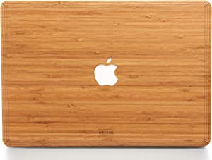 WOODWE Real Wood MacBook Skin for Mac Pro 13 inch with/Without Touch Bar | Model: A1706/A1708/A1989/A2159; Late 2016 – 2019 | Bamboo | TOP ONLY