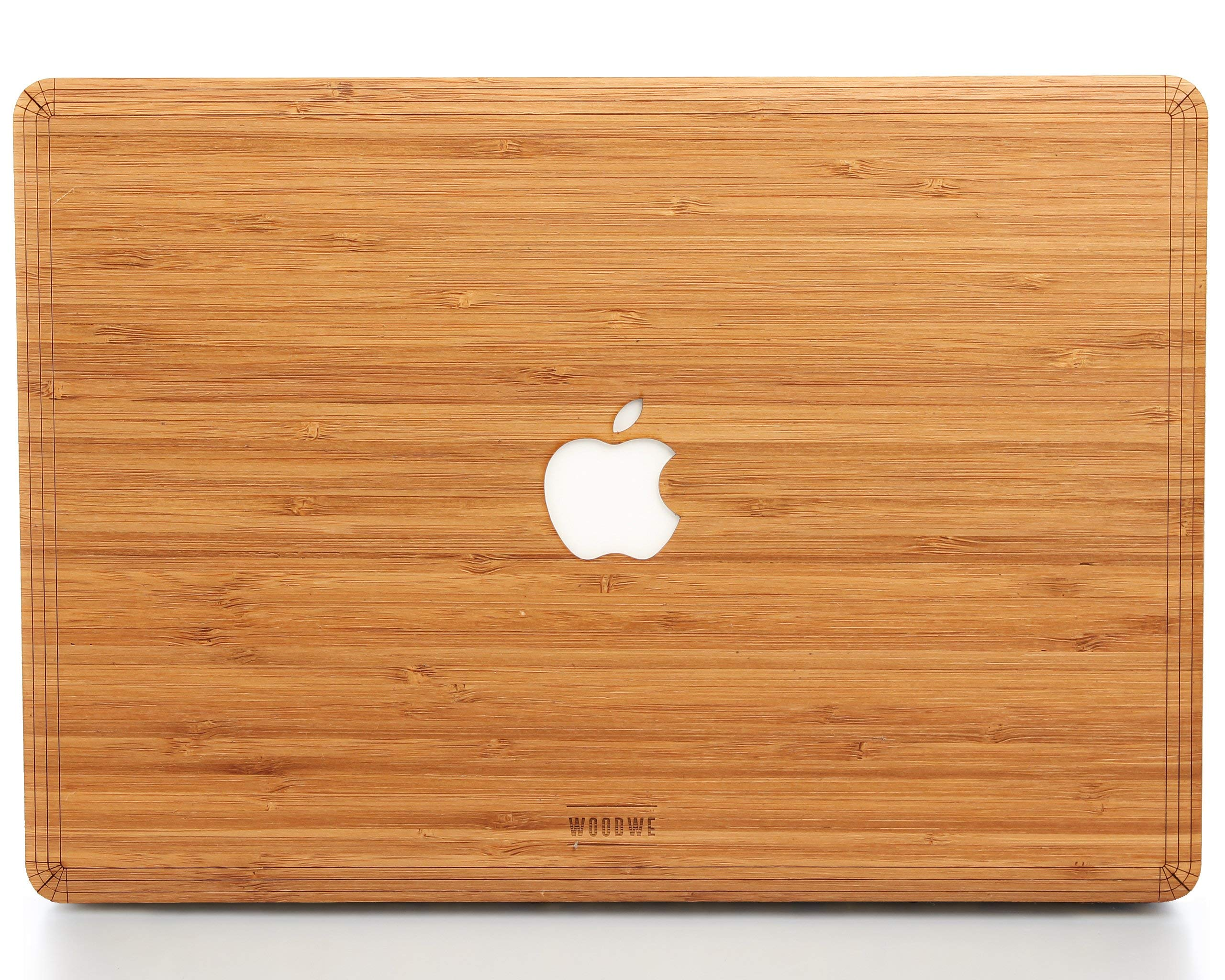 WOODWE Real Wood MacBook Skin for Mac Air 13 inch Non Retina Display | Model: A1237/A1304/A1369/A1466; Early 2008 - Mid 2017 | Natural Bamboo | TOP ONLY