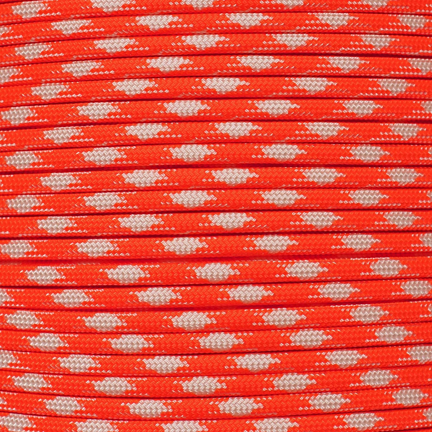 Paracord Planet 550 Cord Type III 7 Strand Paracord 100 Foot Hank Thin Red Line