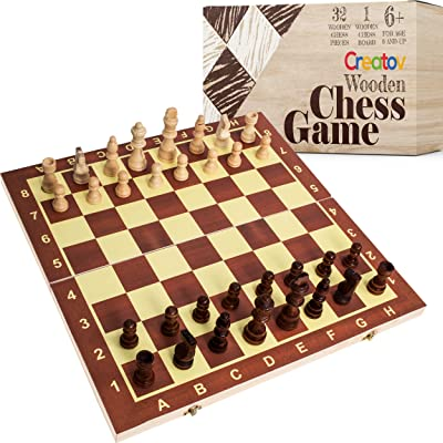 Professional Wooden Chess Set Board - Chess Set for Adults and Kids with Wood Pieces Board Game for Home and Travel: Toys & Games