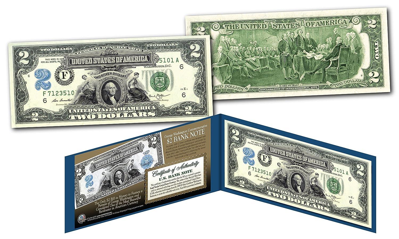 Amazon 1899 George Washington Two Dollar Silver Certificate