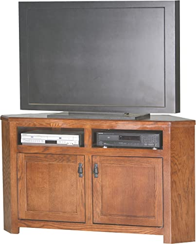 Eagle Mission Corner Entertainment Console, 56 , Medium Oak Finish