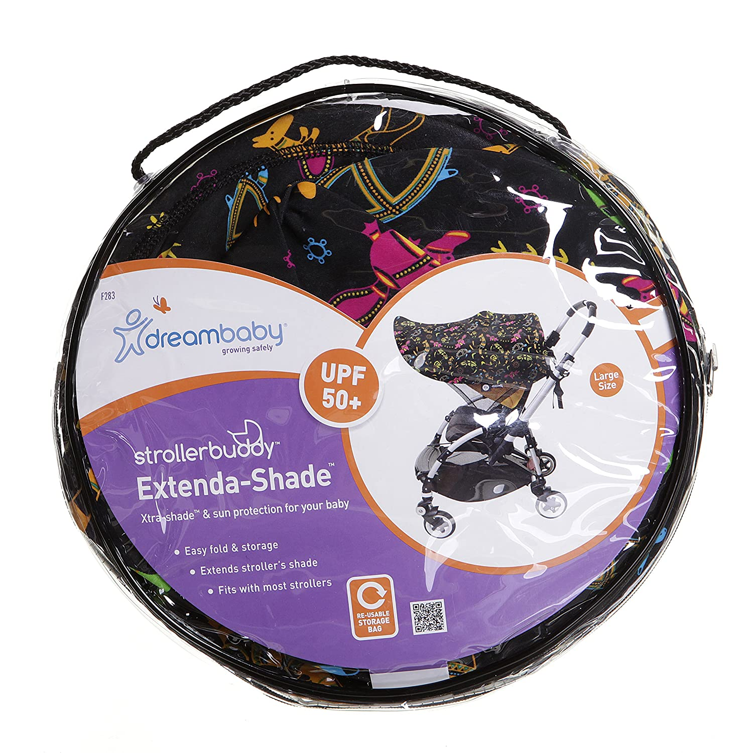 Large, Shade with Animal Print Dreambaby Buddy Extend Stroller