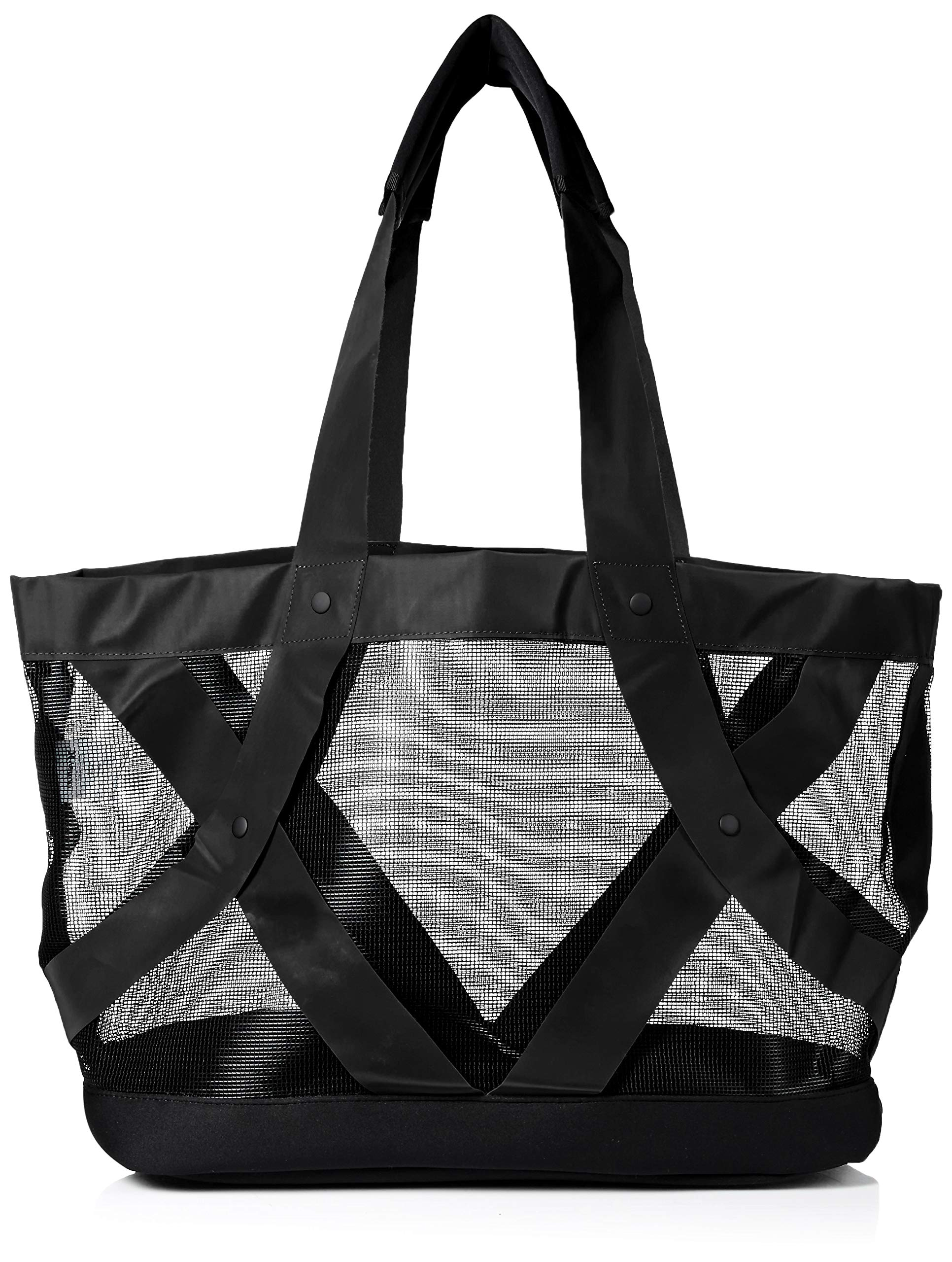 Hurley Women's Apparel Junior's Large Slash Mesh Beach Tote, black QTY