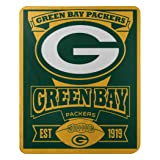 "The Northwest Company Officially Licensed NFL Green Bay Packers Marque Printed Fleece Throw Blanket, 50"" x 60"", Multi Color"