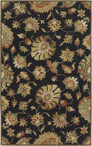 Surya Caesar CAE-1027 Classic Hand Tufted 100 Wool Coal Black 10' x 14' Area Rug