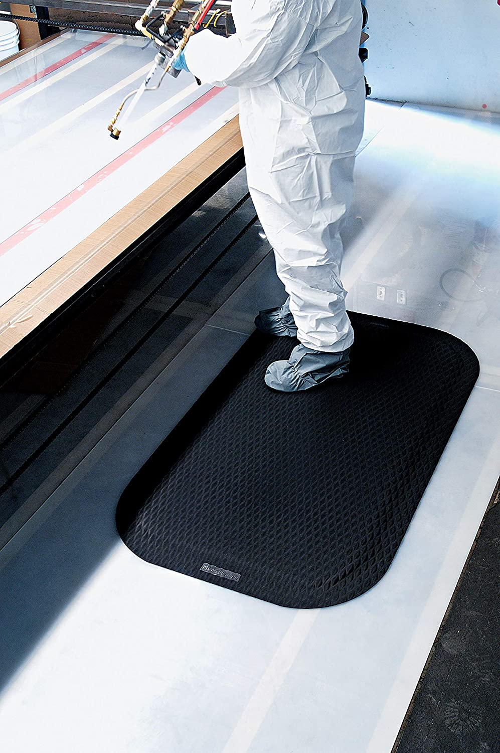 Hog Heaven Ergonomic Anti-Fatigue Mat 7//8 5 Length x 3 Width x Black by M+A Matting The Andersen Company 422-BLKBO-5F 3F