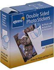 Kenro Double Sided Photo Stickers for Sticking Photographs into Albums Box of 250 Great for Scrapbooking Paper Crafts - PC105