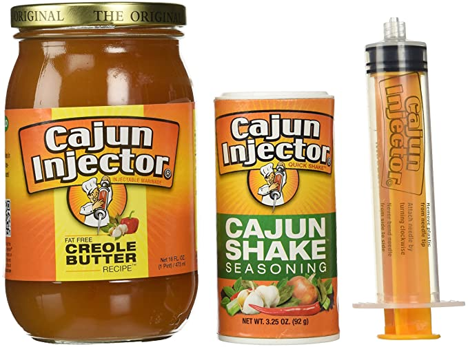 Cajun Injector Turkey Frying Spice Kit Creole Butter with Injector and Cajun Shake