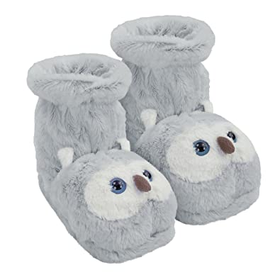 Aroma Home Shoes Fun for Feet Owl Unisex Adults Slippers Grey Grey
